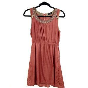 Burnt orange sleeveless summer dress